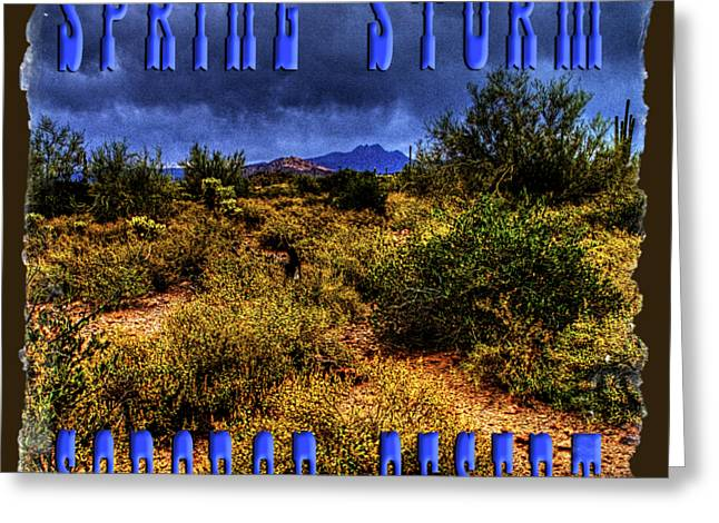 Storm Clouds Over The Sonoran Desert In Spring Greeting Card