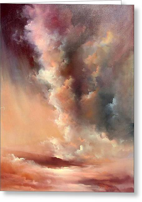 Storm Clouds Rising Greeting Card by Sally Seago