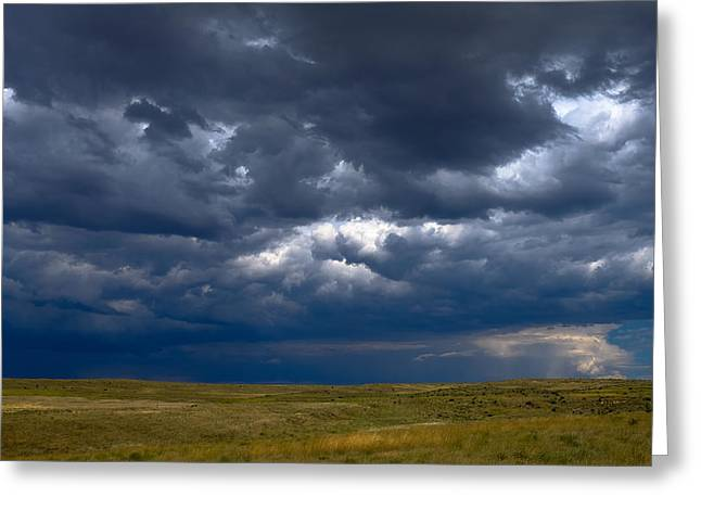 Storm Clouds To The East Greeting Card by Monte Stevens