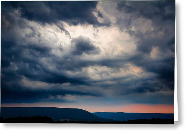 Storm Clounds Over Mount Nittany Greeting Card by Phillip Schafer