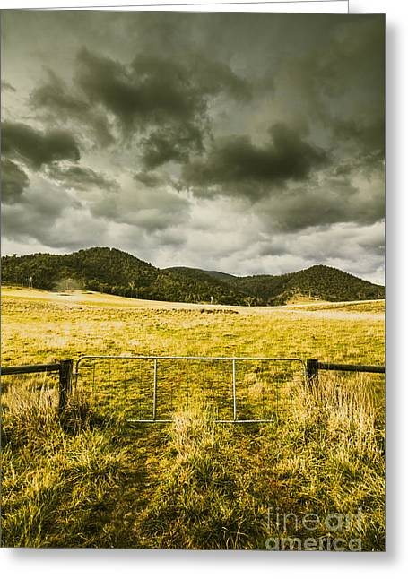 Storm Covered Winter Farmland Greeting Card by Jorgo Photography - Wall Art Gallery