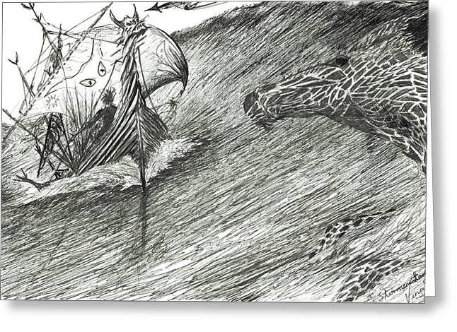 Storm Creator Atlantic Greeting Card by Vincent Alexander Booth