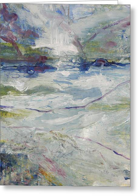 Greeting Card featuring the painting Storm Currents by John Fish