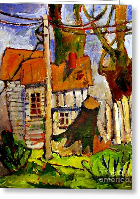 Storm Damage Greeting Card by Charlie Spear