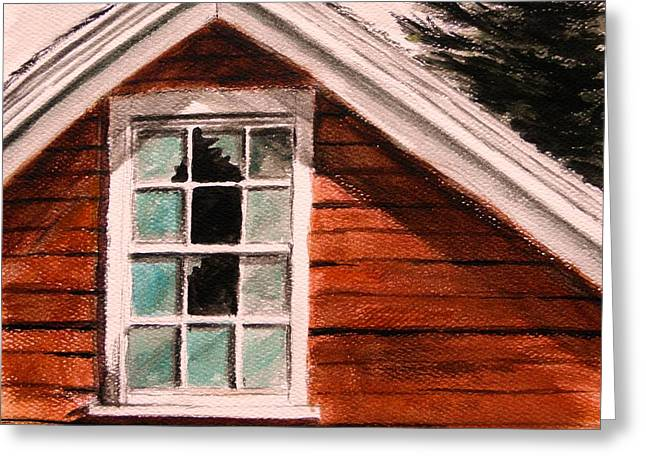 Clapboard House Drawings Greeting Cards - Storm Damage Greeting Card by John  Williams