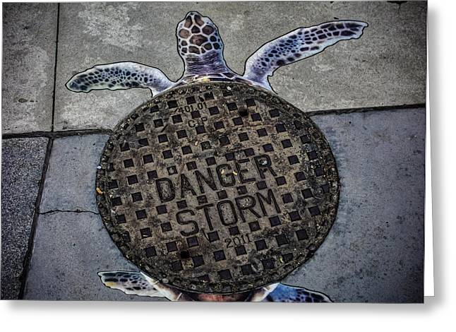 Storm Drain Greeting Card by Martin Newman