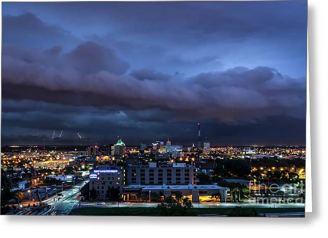 Greeting Card featuring the photograph Storm Front by Andrea Silies