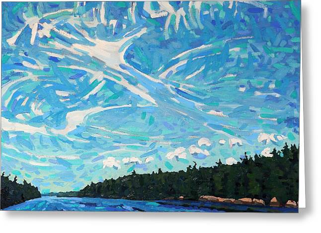 Storm Front Coming Greeting Card by Phil Chadwick