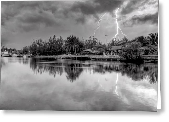 Storm In Paradise Greeting Card