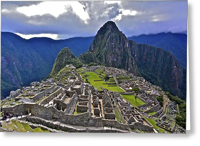 Storm Inbound To Machu Picchu Greeting Card