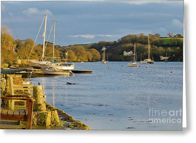 Storm Light At Mylor Bridge Greeting Card by Terri Waters