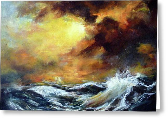 Storm Greeting Card by Mikko Tyllinen