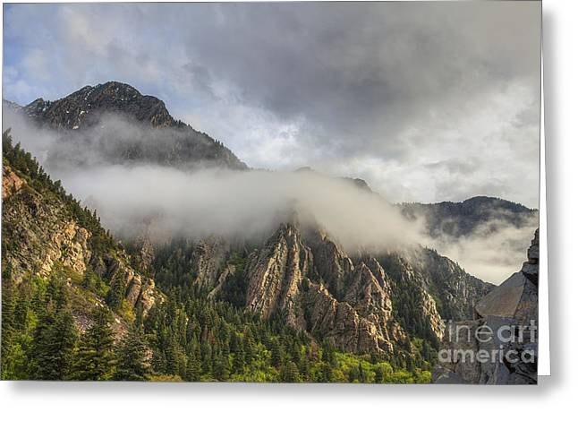 Storm Mountain Greeting Card by Spencer Baugh