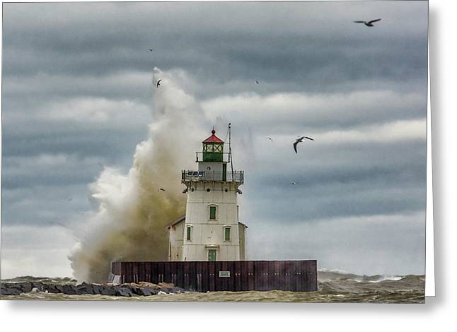 Storm On Lake Erie Greeting Card