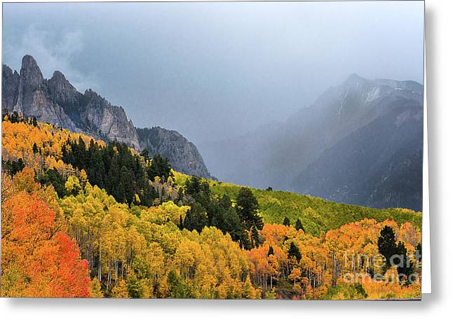 Storm On Million Dollar Highway Greeting Card