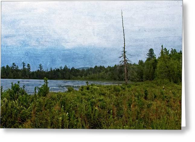Greeting Card featuring the digital art Storm On Raquette Lake by Christopher Meade