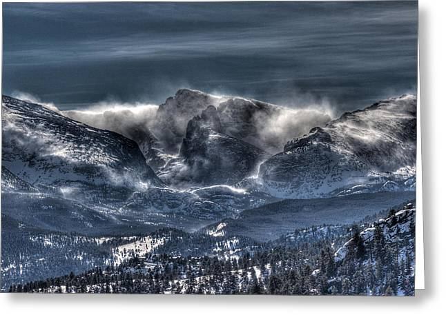Storm On The Divide Greeting Card
