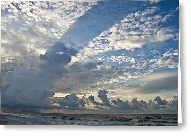 Storm On The Gulf Greeting Card by Jennifer Kelly