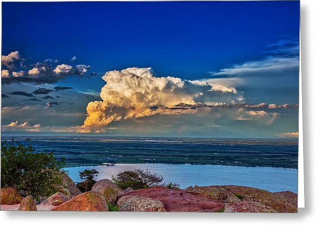 Greeting Card featuring the photograph Storm On The Horizon by James Menzies