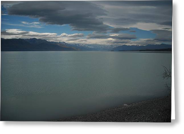 Storm On The Lake Greeting Card by Petrina McLachlan