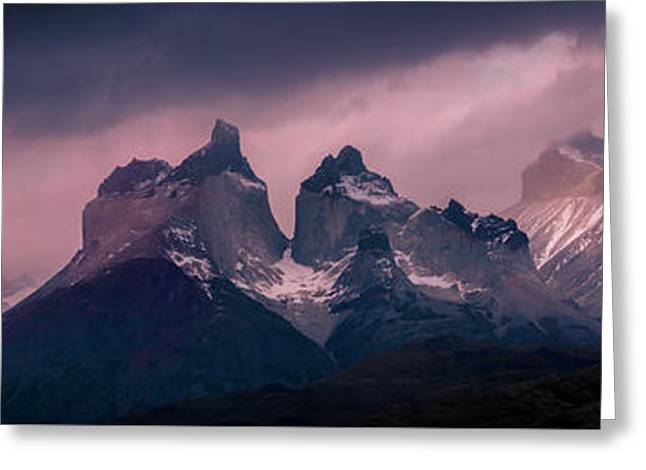 Storm On The Peaks Greeting Card by Andrew Matwijec