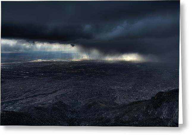 Storm Over Alburquerque Greeting Card by Max Witjes