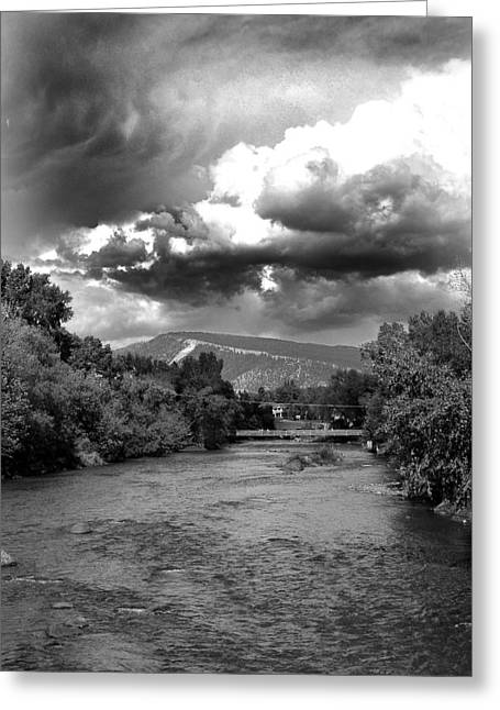 Storm Over Animas Greeting Card by Matthew Angelo