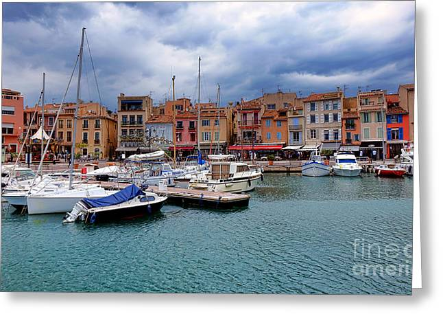 Storm Over Cassis Greeting Card by Olivier Le Queinec