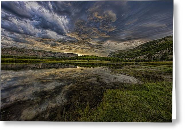 Storm Over Madison River Valley Greeting Card