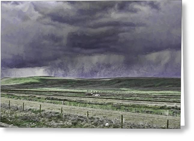 Storm Over Monida Pass  Greeting Card