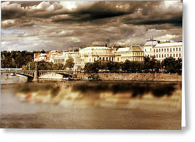 Storm Over Praha Greeting Card