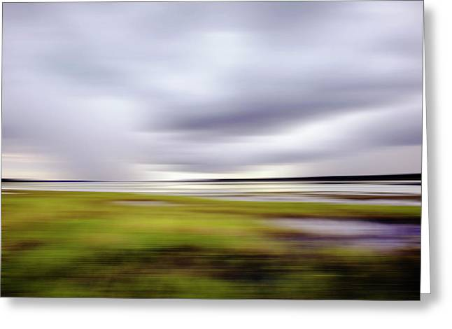 Storm Over River Greeting Card by Skip Nall