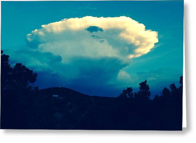 Storm Over Santa Fe Greeting Card