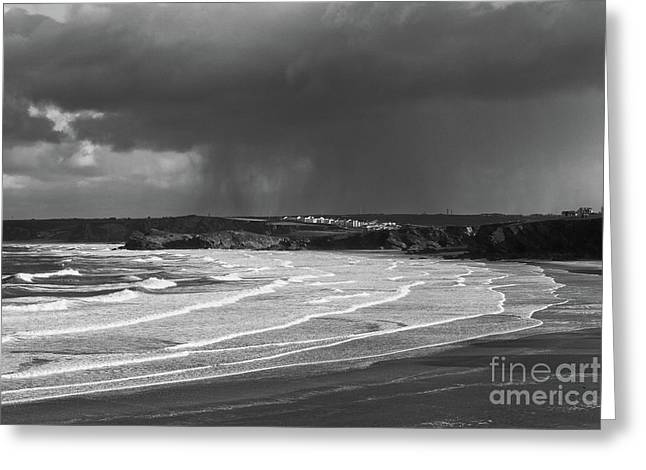 Greeting Card featuring the photograph Storm  Over The Bay by Nicholas Burningham