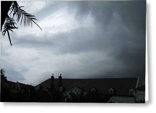 Storm Over The Convent Greeting Card by Tom Hefko