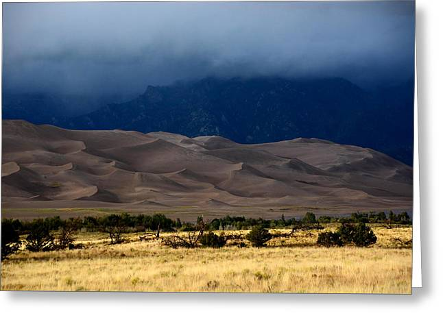 Storm Over The Great Dunes Colorado  Greeting Card