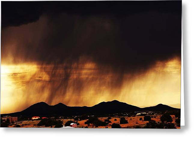 Greeting Card featuring the photograph Storm Over The Mountains by Joseph Frank Baraba