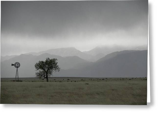 Storm Over The Rockies Greeting Card