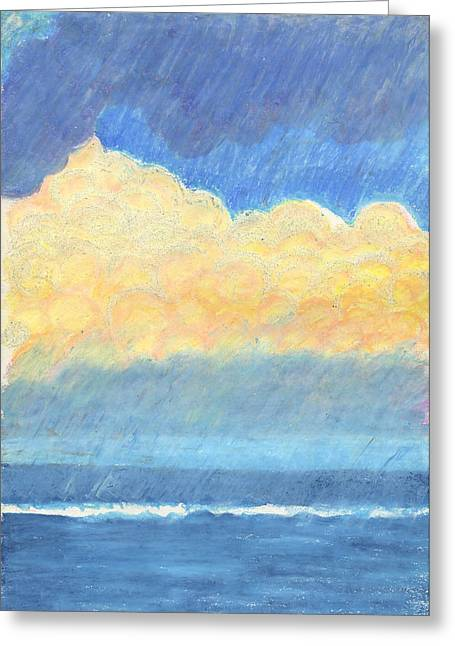 Storm Over Virginia Beach Greeting Card by Harriet Emerson