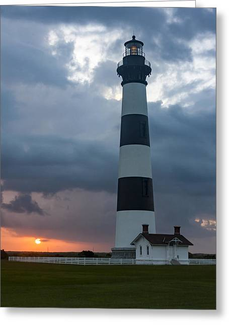 Storm Passes Bodie Island Lighthouse Greeting Card