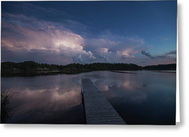 Storm Reflection Greeting Card by Aaron J Groen