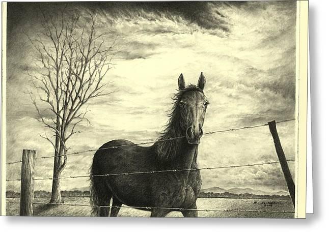 Storm Greeting Card by Richard Klingbeil