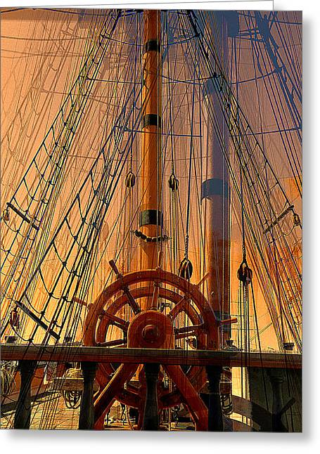 Greeting Card featuring the photograph Storm Ship Of Old by Lori Seaman