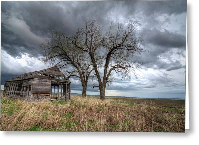Storm Sky Barn Greeting Card