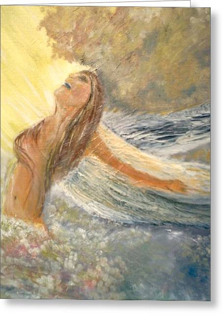 Storm Song Greeting Card by J Bauer