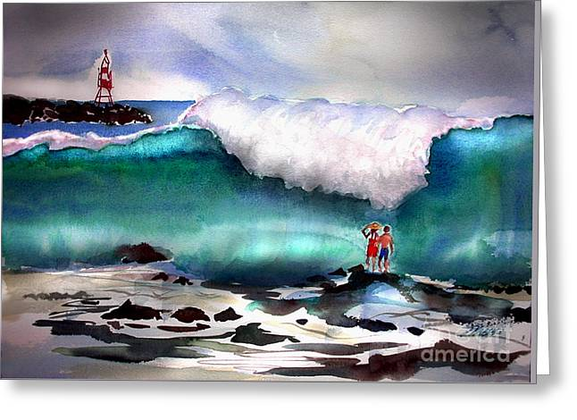 Storm Surf Moment Greeting Card