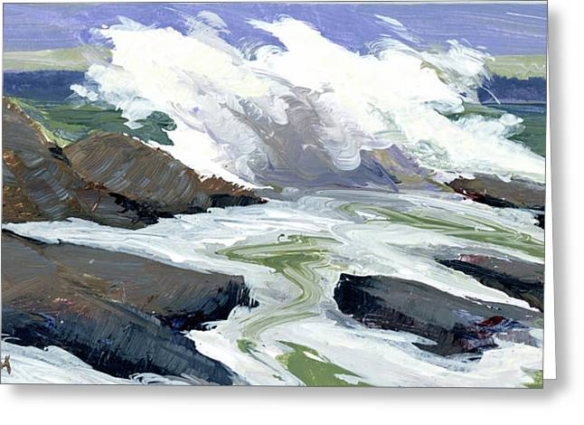 Storm Surge Greeting Card by Mary Byrom