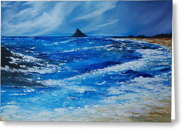 Storm To The East Of The Skellig Greeting Card