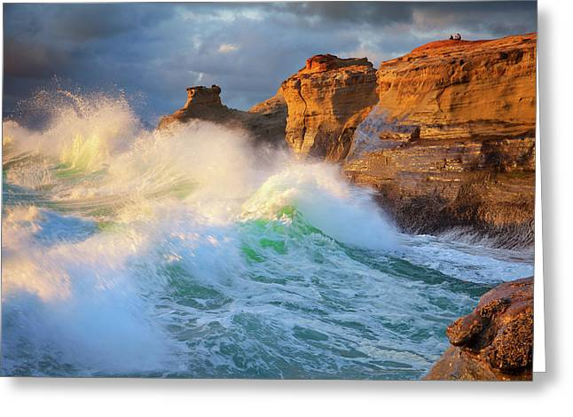 Greeting Card featuring the photograph Storm Watchers by Darren White