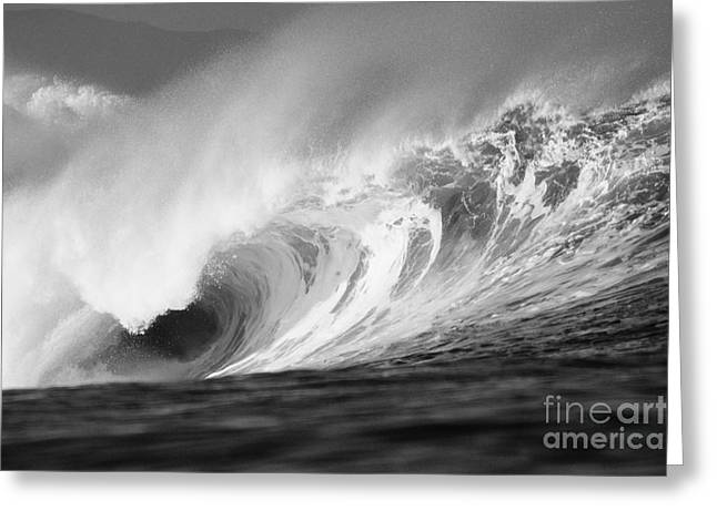 Storm Wave - Bw Greeting Card by Vince Cavataio - Printscapes